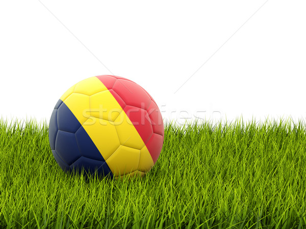 Football with flag of chad Stock photo © MikhailMishchenko