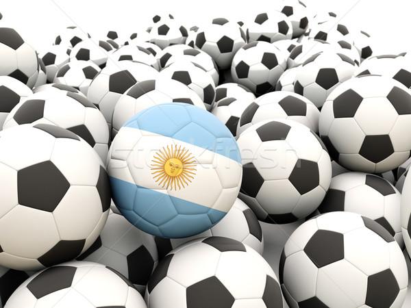 Futebol bandeira Argentina regular verão Foto stock © MikhailMishchenko