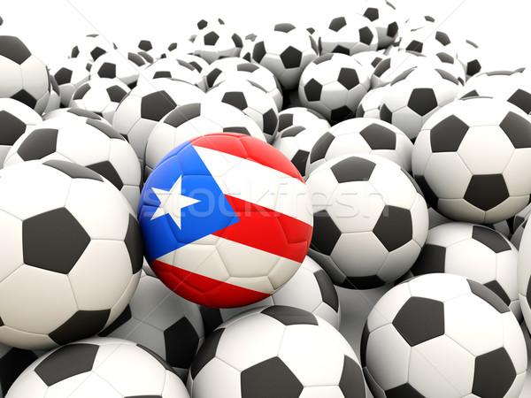 Voetbal vlag Puerto Rico regelmatig zomer Stockfoto © MikhailMishchenko