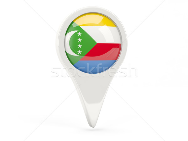 Round flag icon of comoros Stock photo © MikhailMishchenko