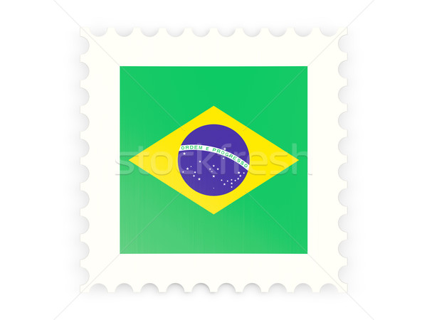 Postage stamp icon of brazil Stock photo © MikhailMishchenko