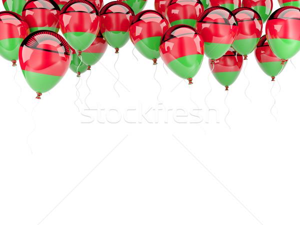 Ballon frame vlag Malawi geïsoleerd witte Stockfoto © MikhailMishchenko