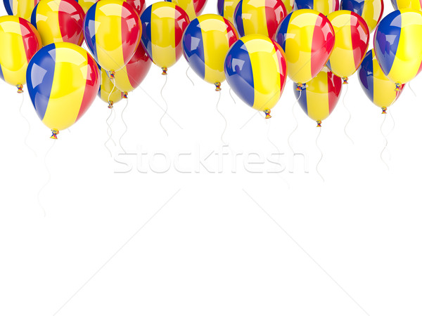 Balloon frame with flag of romania Stock photo © MikhailMishchenko