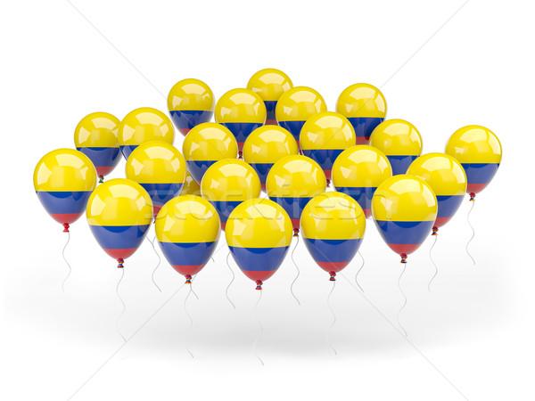 Ballonnen vlag Colombia geïsoleerd witte land Stockfoto © MikhailMishchenko