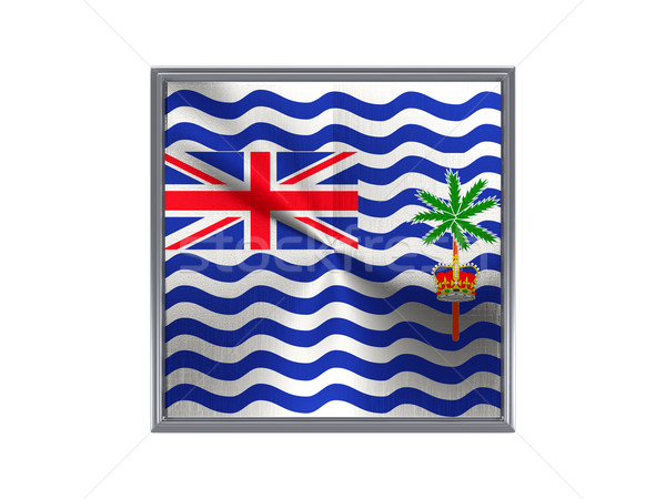 Square metal button with flag of british indian ocean territory Stock photo © MikhailMishchenko