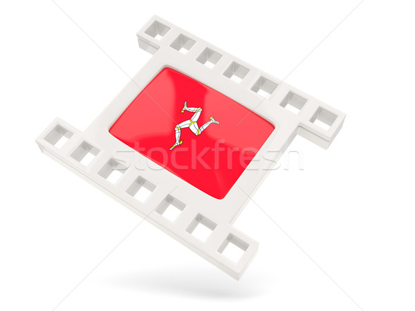 Movie icon with flag of isle of man Stock photo © MikhailMishchenko