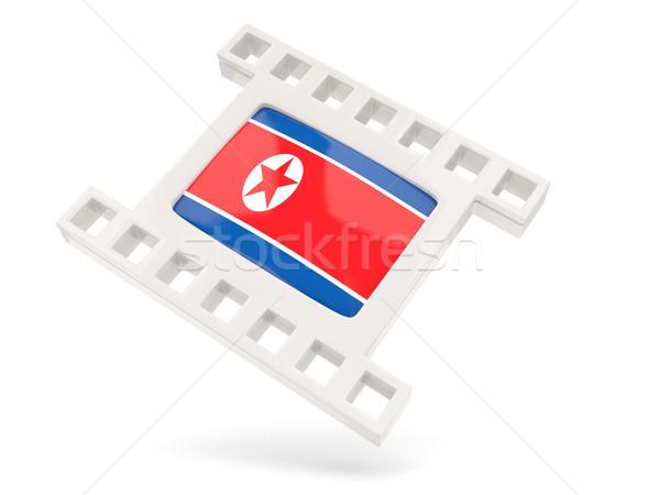 Movie icon with flag of north korea Stock photo © MikhailMishchenko