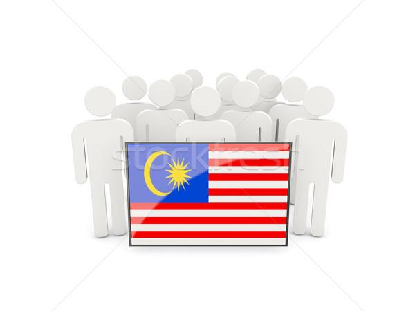 人 フラグ マレーシア 孤立した 白 群衆 ストックフォト © MikhailMishchenko