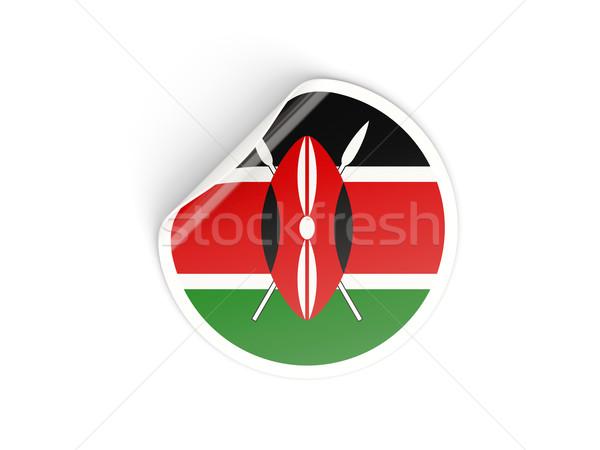Naklejki banderą Kenia odizolowany biały podróży Zdjęcia stock © MikhailMishchenko