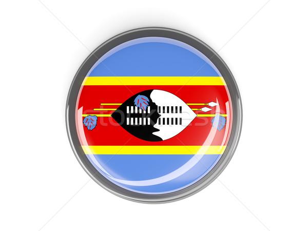 Knop vlag Swaziland metaal frame reizen Stockfoto © MikhailMishchenko