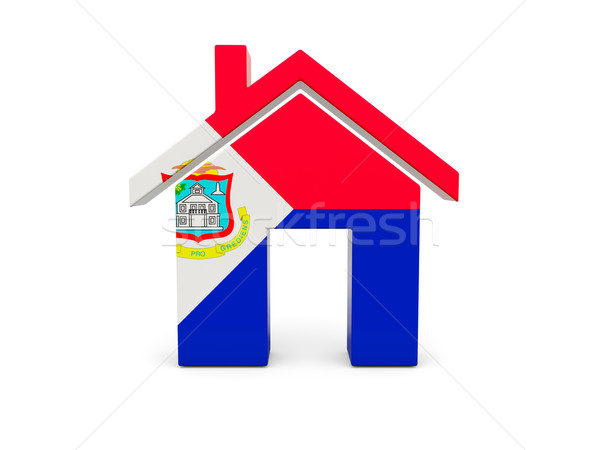 Home with flag of sint maarten Stock photo © MikhailMishchenko