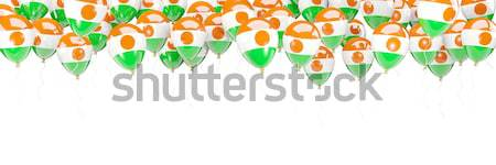 Vuelo globos bandera Níger aislado blanco Foto stock © MikhailMishchenko