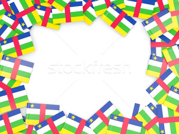 Frame vlag centraal afrikaanse republiek geïsoleerd Stockfoto © MikhailMishchenko