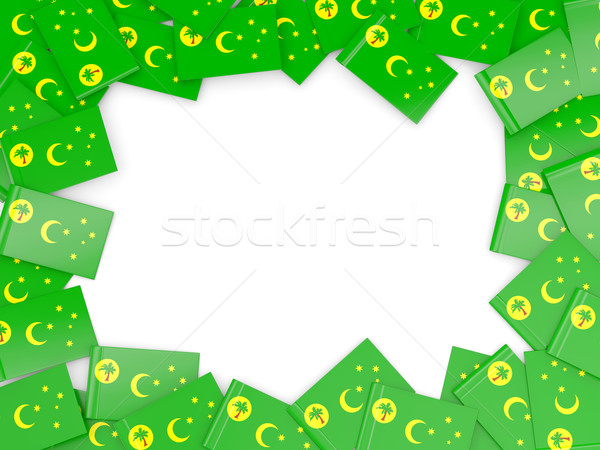 Frame with flag of cocos islands Stock photo © MikhailMishchenko