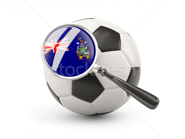 Football with magnified flag of south georgia and the south sand Stock photo © MikhailMishchenko