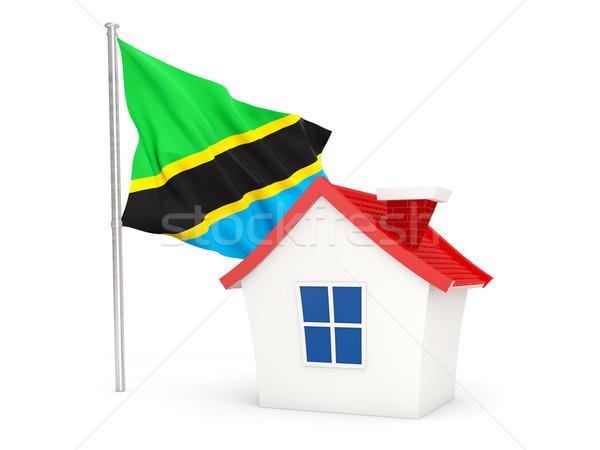 Ev bayrak Tanzanya yalıtılmış beyaz ev Stok fotoğraf © MikhailMishchenko