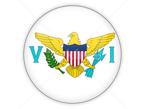 Round icon with flag of virgin islands us Stock photo © MikhailMishchenko
