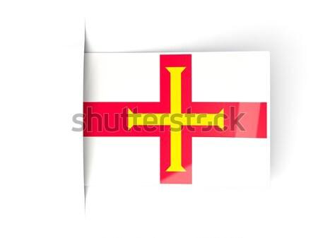 Adesivo bandiera Inghilterra isolato bianco viaggio Foto d'archivio © MikhailMishchenko