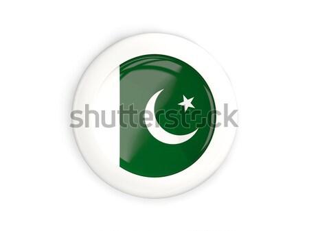 Etiket bayrak Pakistan yalıtılmış beyaz seyahat Stok fotoğraf © MikhailMishchenko