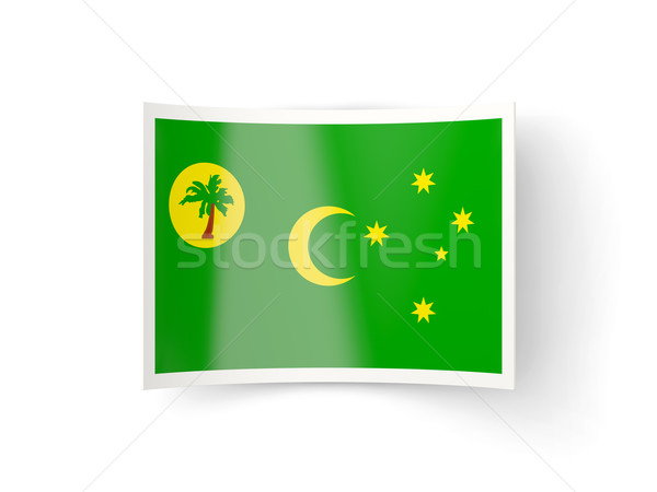Bent icon with flag of cocos islands Stock photo © MikhailMishchenko