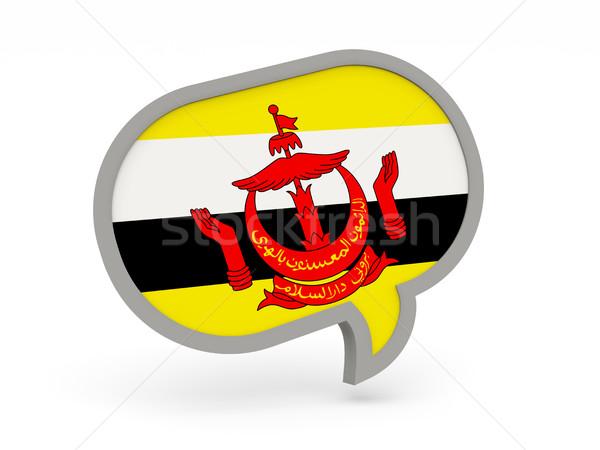 чате икона флаг Бруней изолированный белый Сток-фото © MikhailMishchenko