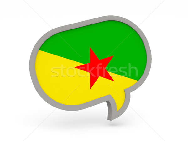Chat icon with flag of french guiana Stock photo © MikhailMishchenko