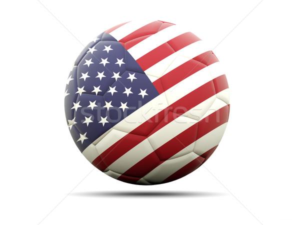 Futbol bayrak Amerika Birleşik Devletleri Amerika 3d illustration futbol Stok fotoğraf © MikhailMishchenko