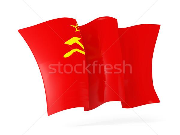 Waving flag of ussr. 3D illustration Stock photo © MikhailMishchenko