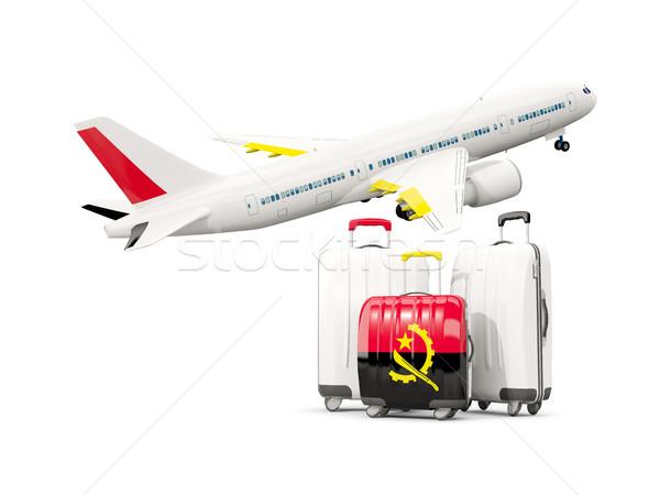 Stok fotoğraf: Bagaj · bayrak · üç · çanta · uçak · yalıtılmış