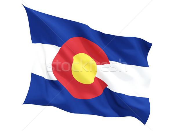 Flag of colorado, US state fluttering flag Stock photo © MikhailMishchenko
