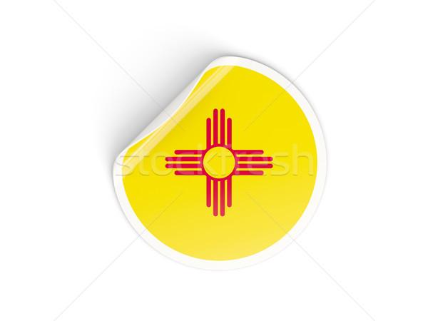 Flag of new mexico, US state round sticker Stock photo © MikhailMishchenko