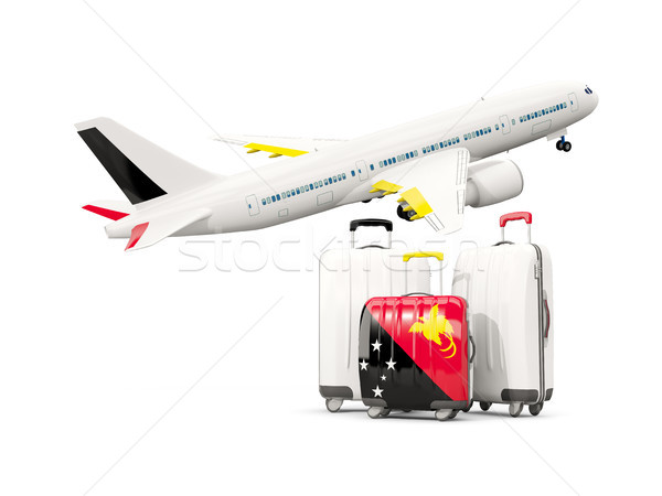 Bagażu banderą nowego trzy torby samolot Zdjęcia stock © MikhailMishchenko