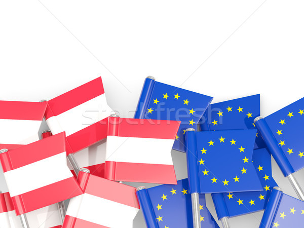 Bandera ue aislado blanco 3d Europa Foto stock © MikhailMishchenko