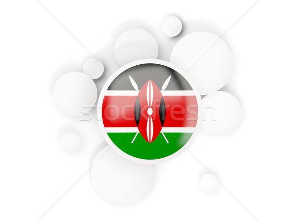 Round flag of kenya with circles pattern Stock photo © MikhailMishchenko