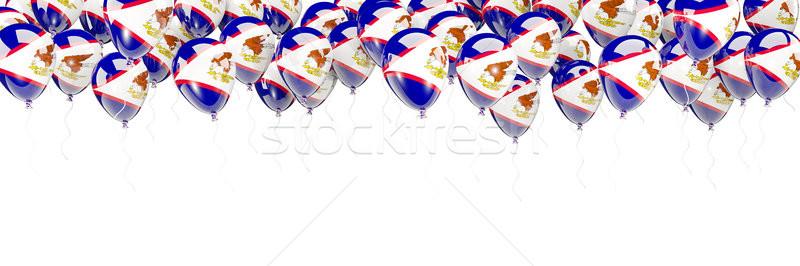 Ballonnen frame vlag Amerikaans Samoa geïsoleerd witte Stockfoto © MikhailMishchenko