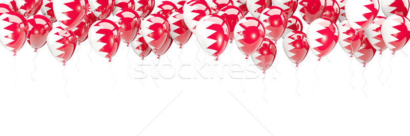 Balões quadro bandeira Bahrein isolado branco Foto stock © MikhailMishchenko