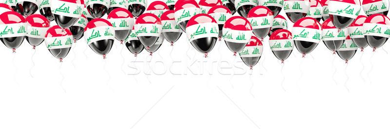 Balões quadro bandeira Iraque isolado branco Foto stock © MikhailMishchenko