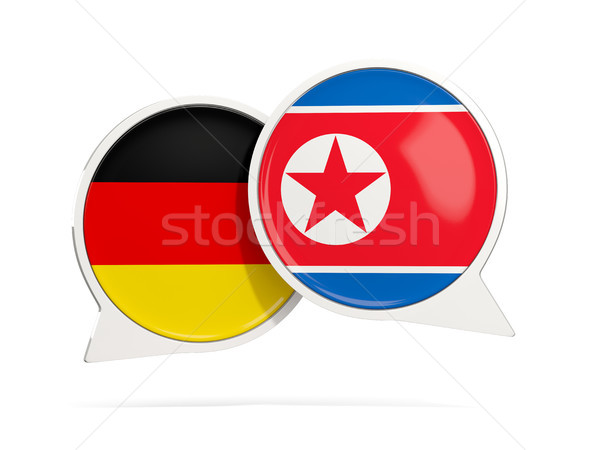 Chat bubbles of Germany and North Korea isolated on white Stock photo © MikhailMishchenko