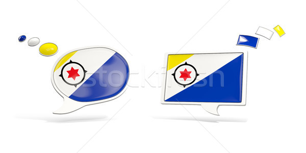 Two chat icons with flag of bonaire Stock photo © MikhailMishchenko