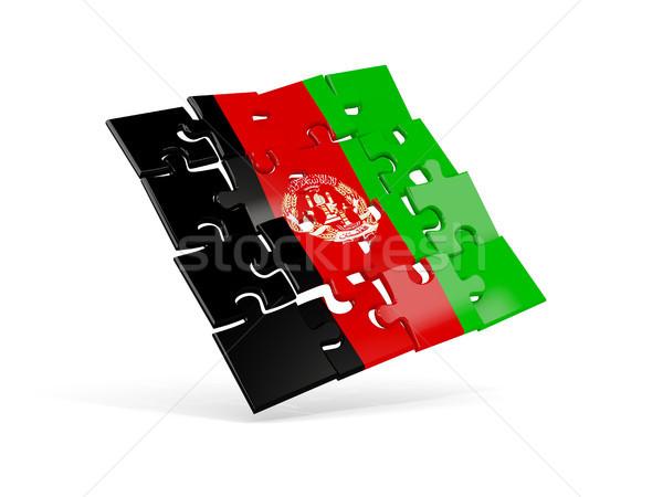 головоломки флаг Афганистан изолированный белый 3d иллюстрации Сток-фото © MikhailMishchenko
