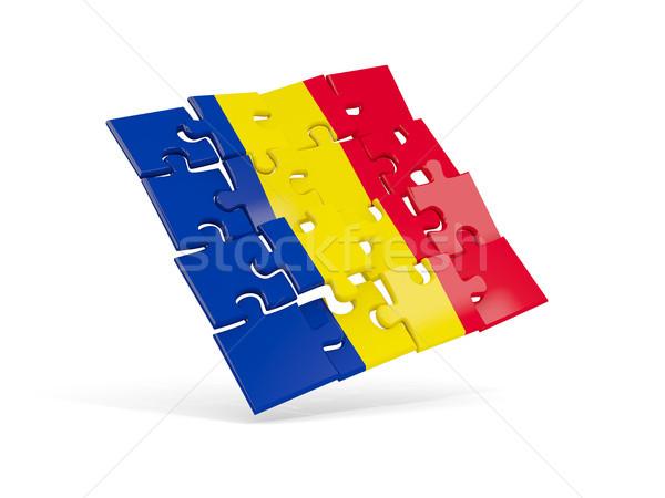 Puzzle pavillon Roumanie isolé blanche 3d illustration Photo stock © MikhailMishchenko