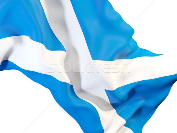 Integet zászló Skócia közelkép 3d illusztráció szövet Stock fotó © MikhailMishchenko