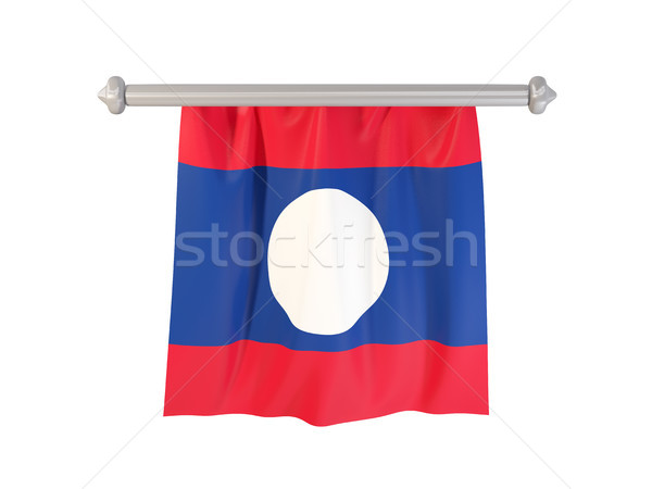 Pennant with flag of laos Stock photo © MikhailMishchenko