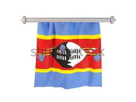 Stock fotó: Zászló · Uganda · izolált · fehér · 3d · illusztráció · címke