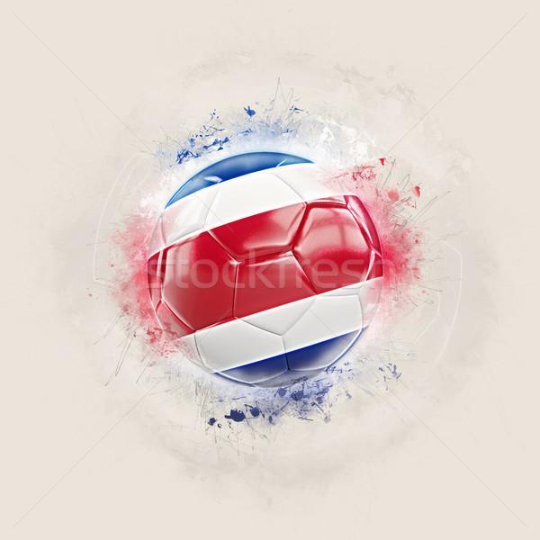Grunge futball zászló Costa Rica 3d illusztráció világ Stock fotó © MikhailMishchenko