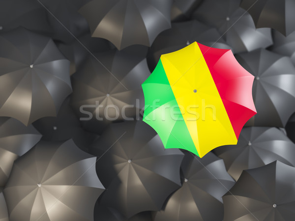 Umbrella with flag of mali Stock photo © MikhailMishchenko