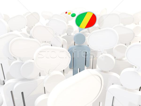 Uomo bandiera repubblica Congo folla illustrazione 3d Foto d'archivio © MikhailMishchenko