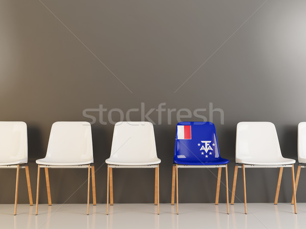Chair with flag of french southern territories Stock photo © MikhailMishchenko