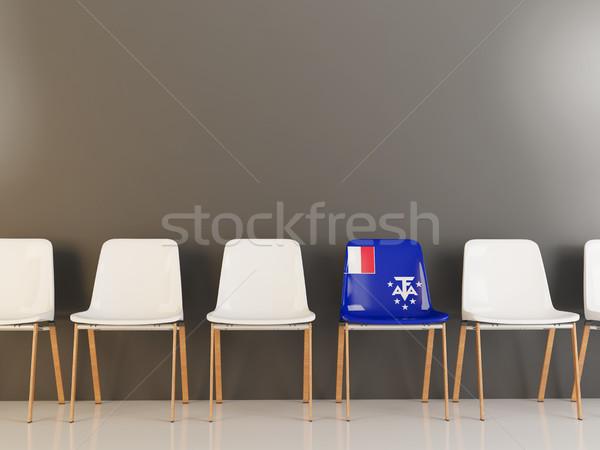 Szék zászló francia déli csetepaté fehér Stock fotó © MikhailMishchenko