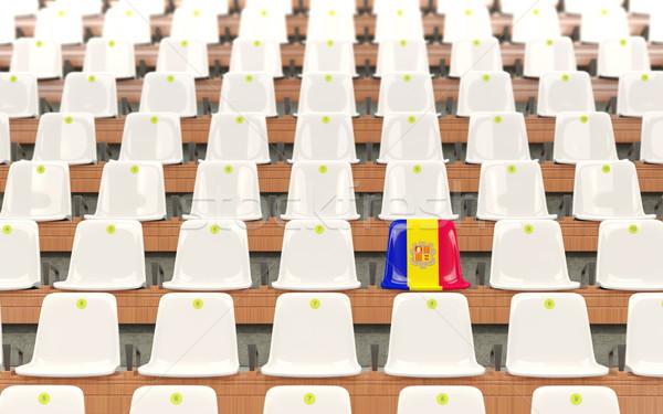 Stadium seat with flag of andorra Stock photo © MikhailMishchenko